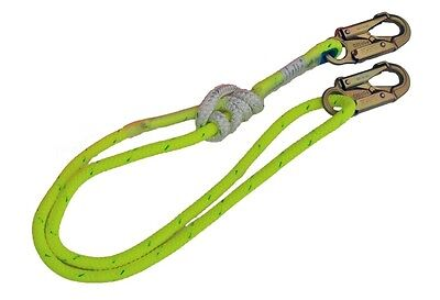 3 - 6 FT Double Braid Composite Adjustable Rope Lanyard  - ALL GEAR ARBORIST