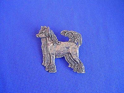 Chinese Crested SIDE BY SIDE pewter pin #22o toy dog Jewelry by Cindy A.Conter