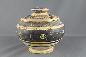 Ancient Corinthian Lidded Pyxis - Greek Antiquities