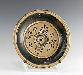 An Ancient Messapian Plate, Pottery from Southern Italy