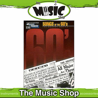 New EZ Play #232 Songs of the 60's Piano Music Book -  Easy Play E-Z