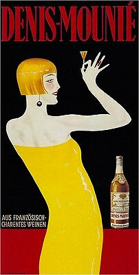 Denis-Mounie 1931 - Austria drink old vintage poster reproduction A1 A2 A3 A4