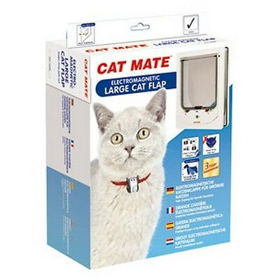 Chatiere Porte Pour Grand Chat Cat Mate Electromagnetic Blanc