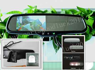 """Auto dimming mirror + 4.3""""backup display,fits Ford,Toyota,Nissan,Honda,Chevrolet"""