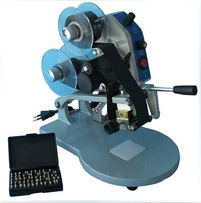 Manual Number Words Date Hand Operated Hot Stamp Printer Coding Machine a