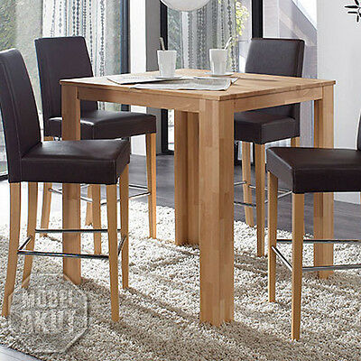 bartisch dalor tisch bistrotisch buche massiv natur lackiert 90x90 cm eur 159 95 picclick de. Black Bedroom Furniture Sets. Home Design Ideas