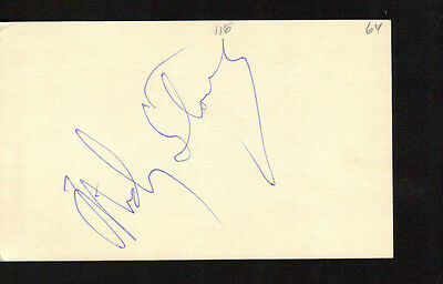 1964 Mickey Stanley Autograph Index Card! Very Rare! Debut Year Signed!