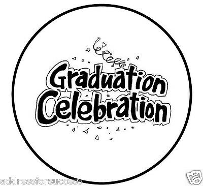 "Personalized Graduation Celebration 1"" Round Envelope Seals Custom Labels"
