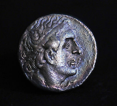 Ancient Egyptian Silver Tetradrachm Of Ptolemy Ii Philadelphus