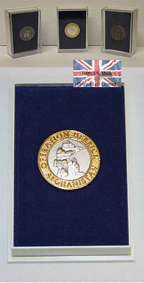 Approved Op Herrick / Afghanistan Gilt Rim/Silver Centre Lapel Pin (100% UK made