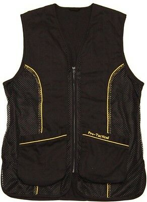 NEW Pro-Tactical Clay Target Shooting Vest - Multiple Sizes - Dual Shell Pockets
