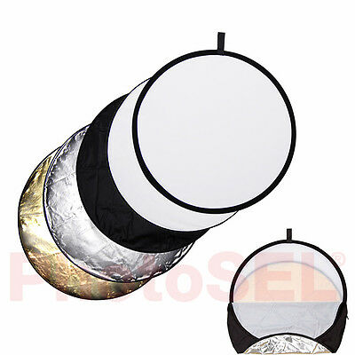 "PhotoSEL RFC54 107cm 42"" 5-in-1 Photography Collapsible Lighting Light Reflector"