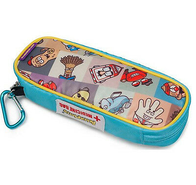 AllerMates Insulated ALLERGY EPIPEN CASE Asthma School Travel Sleepover SQUARES