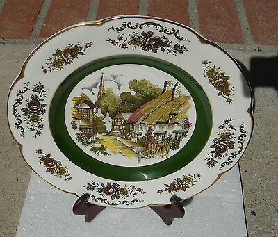 WOOD AND SONS ASCOT SERVICE PLATE ENGLAND DECORATIVE