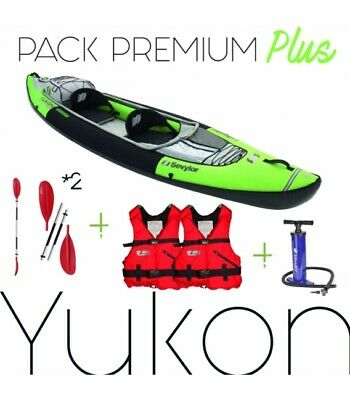 Pack kayak gonflable YUKON SEVYLOR, 2 pagaies, pompe, 2 gilets etc .