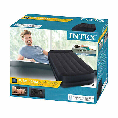 Intex Single Twin Size Raised Inflatable Air Bed Mattress Airbed 66706 New Cheap