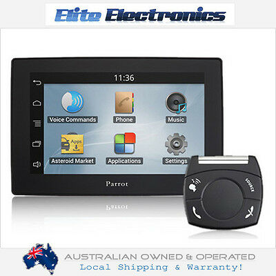 """Parrot Asteroid 5.0"""" Tablet Touch Bluetooth Car Media Receiver Phone Kit Android"""