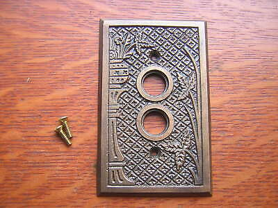 "New Cast Brass ""Broken Leaf"" Push Button Switch Plate"