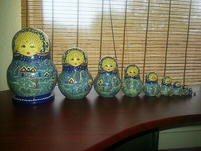 Hand Painted Intricately Painted Russian Nesting Dolls