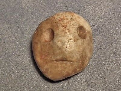 Authentic Antique Pre-Columbian Stone Pendant Mezcala Late Preclassic 300-100 BC