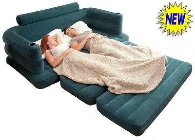 NEW Pull Out Double Sofa Bed Inflatable Pullout Air Sofabed Settee Couch Camping