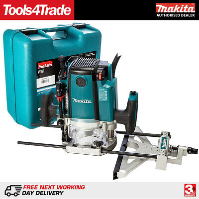 "Makita RP1801XK Router 1/2"" Collet 1650w motor 70mm Plunge + Case 240v"
