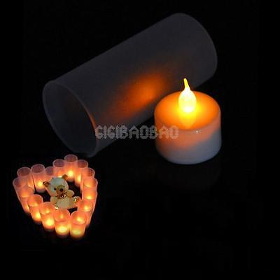 gi#b LED Electronic Flameless Switch Candle Yellow Color Night Light With Cup