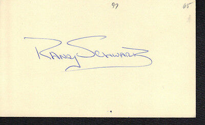 1965 Randy Schwartz Autograph Index Card! Very Rare! Debut Year Signed!