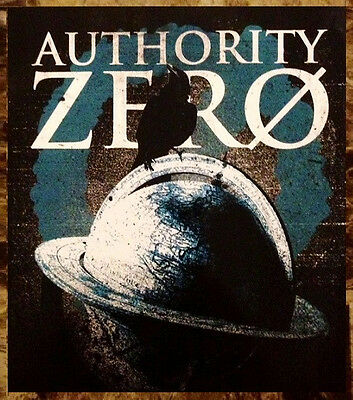 AUTHORITY ZERO The Tipping Point 2013 New Rare Sticker +FREE Punk Rock Stickers!