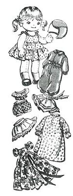 """Mail Order 11"""" Jointed Doll & Clothes Pattern 7131"""
