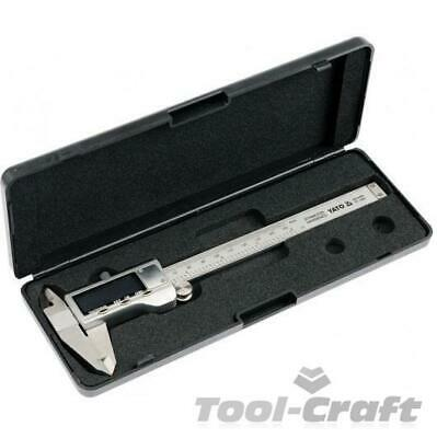 Yato professional digital caliper stainless steel scale mm/inch (YT-7201)