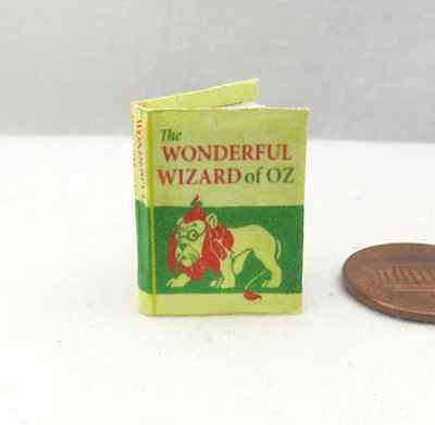 The WONDERFUL WIZARD of OZ COLOR Illustrated MINIATURE BOOK 1:12 SCALE Readable