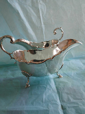 Pair Of Large Sauce Boat Crested Made In Sterling Silver London 1905