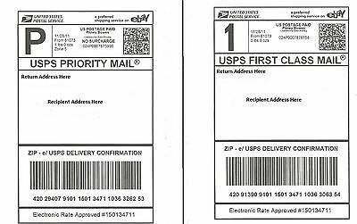 2000 Self Adhesive Shipping Labels Laser/Inkjet Printer, PayPal, UPS USPS FedEx