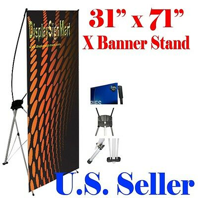 "Medium X Banner Stand 31"" x 73"" w/ Free Bag Trade Show Display X-banner 80mm 180"