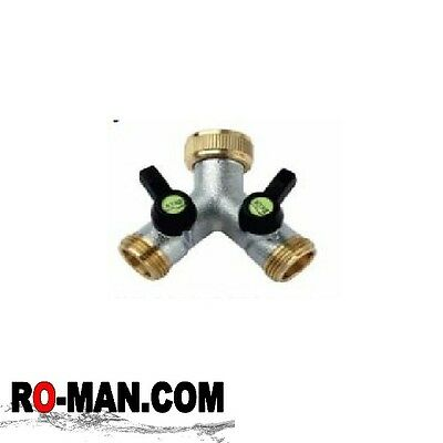 Hose Quick Connectors 3/4 inch BSP Female 2 Way Y Connector Male BSP