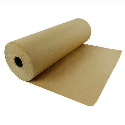 "Kraft Paper Roll 600'x15"" 50lb Strength Brown Shipping Wrapping Cushioning Fill"