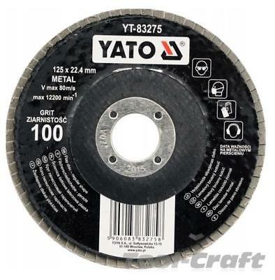 Yato professional flap discs 115&125mm, grid:36, 40 60 80 100 120 flat depressed
