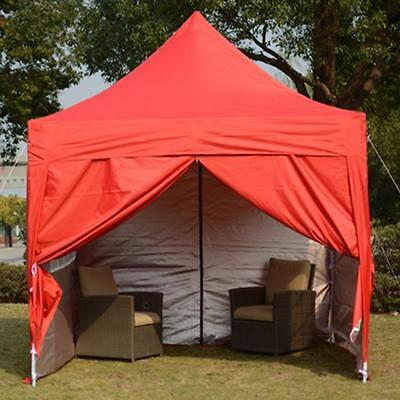 Quictent 2 x 2m Red Pop Up Gazebo party tent Garden Canopy Marquee Carport NEW