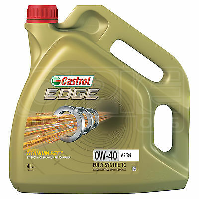 Castrol Edge TITANIUM 0W-40 FST A3/B4 synthetic engine oil 0W40 4 Litres 4L
