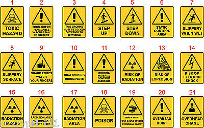 Warning Australian Health & Safety Signs OHS Standard Signs Work Place Signs