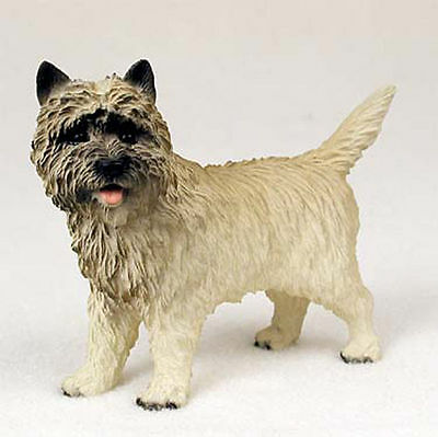 Cairn Terrier Hand Painted Collectible Dog Figurine Statue Red