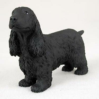 English Cocker Spaniel Hand Painted Collectible Dog Figurine Black