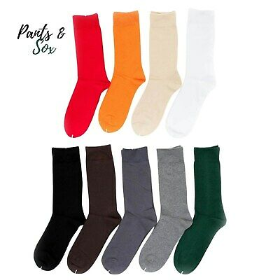 Crew Business Socks Mens Womens Black White Grey Green Dark Grey 2-8 6-11 11-14