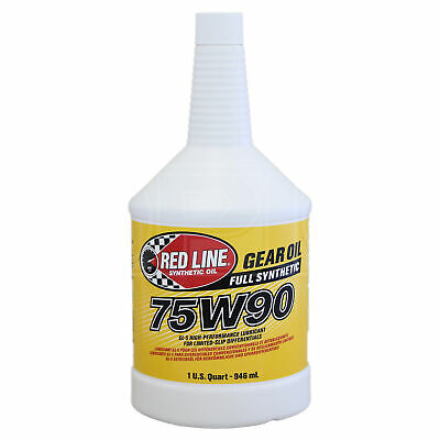 RED LINE Synthetic Gear Oil 75W-90 High Performance GL5 1 US Quart 0.946 litre