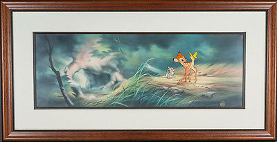 Disney Bambi,Thumper and Butterfly  Cel *Extremely Rare Sold-Out Edition*  w/COA