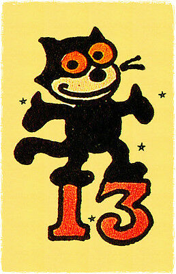 134 Unlucky 13 Felix Black Cat Sailor Jerry Traditional style Flash poster print