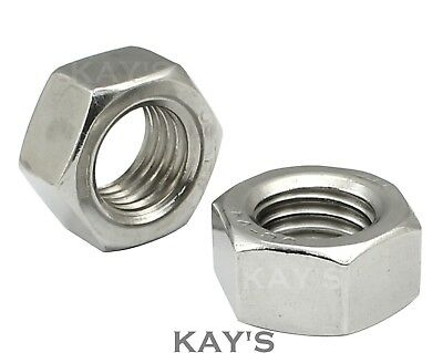 A4 Marine Grade 316 Stainless Steel Full Hexagon Nuts M3,M4,M5,M6,M8,M10,M12