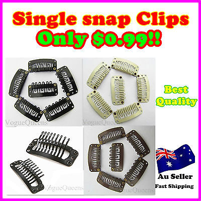 Brand New Single Snap Clips For Hair Extension/weft 32Mm