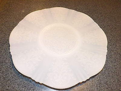 American Sweetheart Monax Depression Glass Salver or Sandwich Plate 11 1/2 Inch